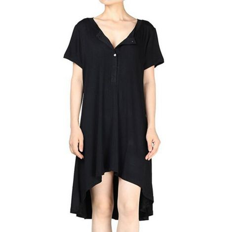Short Sleeve High Low Loose Tunic Tops
