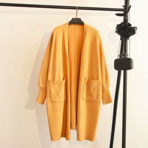 Lightweight Knee Long Cardigan Knitted Sweater Coat