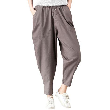 Loose Elastic Waist Pull-on Pants