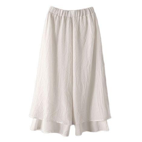 Loose Double Layer Capris Wide Leg Pants