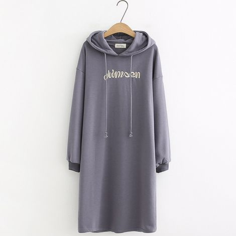 Women's Hoodie Long Tunic Dress Long Sleeve Sweatshirt