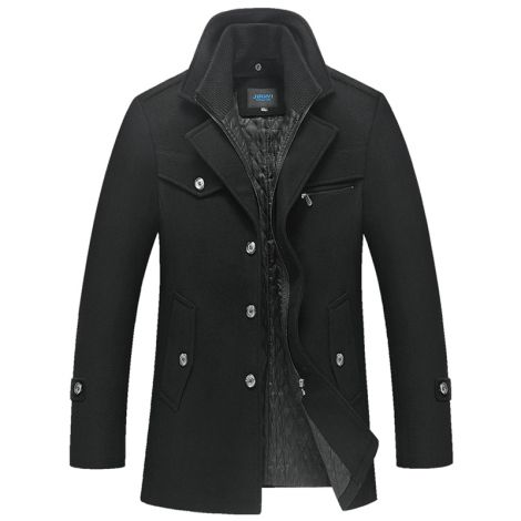 Men's Wool Coat Slim Fit Thick Walker Coat