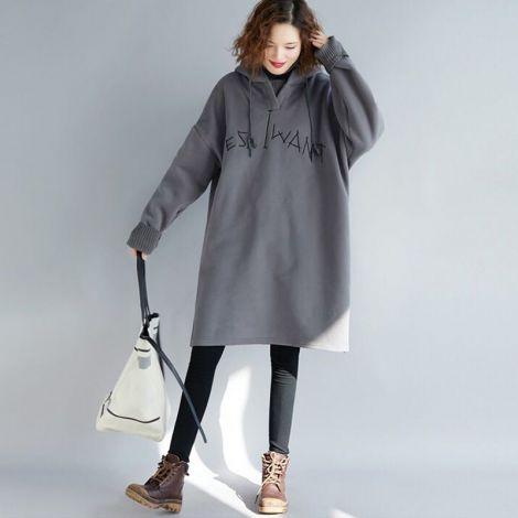 Women's Long Hoodie Sweatshirt Casual Loose Fit Pullover