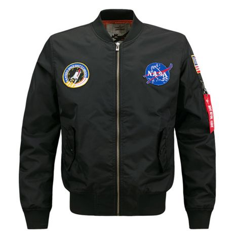 Hip Hop Jacket Air Sky Flight Patch Embroidery Bomber Jackets