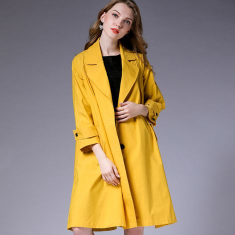 Cotton Tunic Trenchcoat Blouse Casual Lightweight Jacket