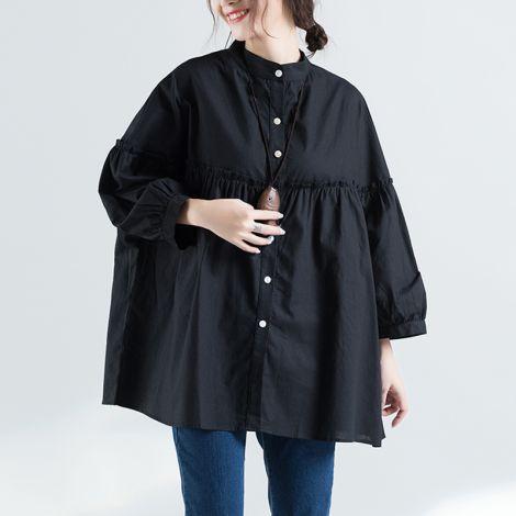 Button Down Shirts Plus Size Cotton Casual Blouses