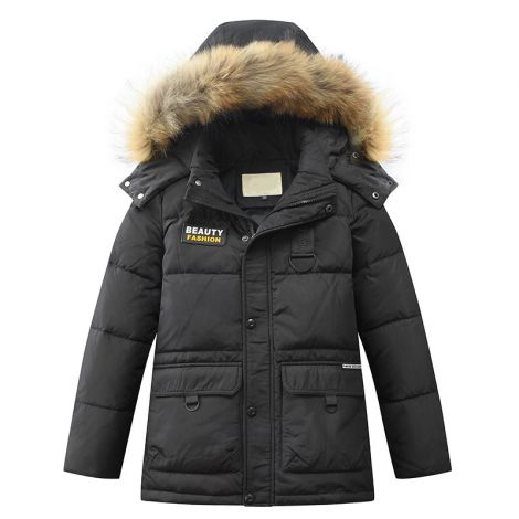 Winter Hooded Jacket Puffer Mid-Long Coat Outwear