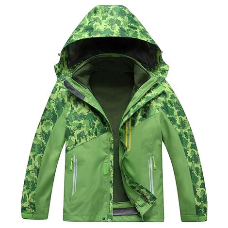 Snowflake Jacket With Fleece Liner Winter Outdoor Coat