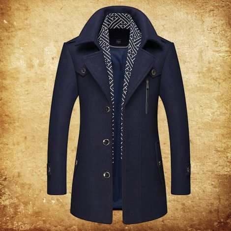 Single Breasted Coat Slim Fit Wool Business Jacket