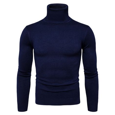 Men's Turtleneck Sweater Basic Knitted Sweatershirts