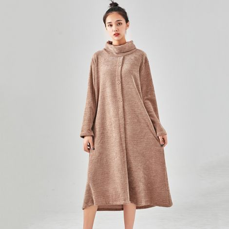 Women's Cotton Jumper Dress Turtleneck Long Sweatershirt